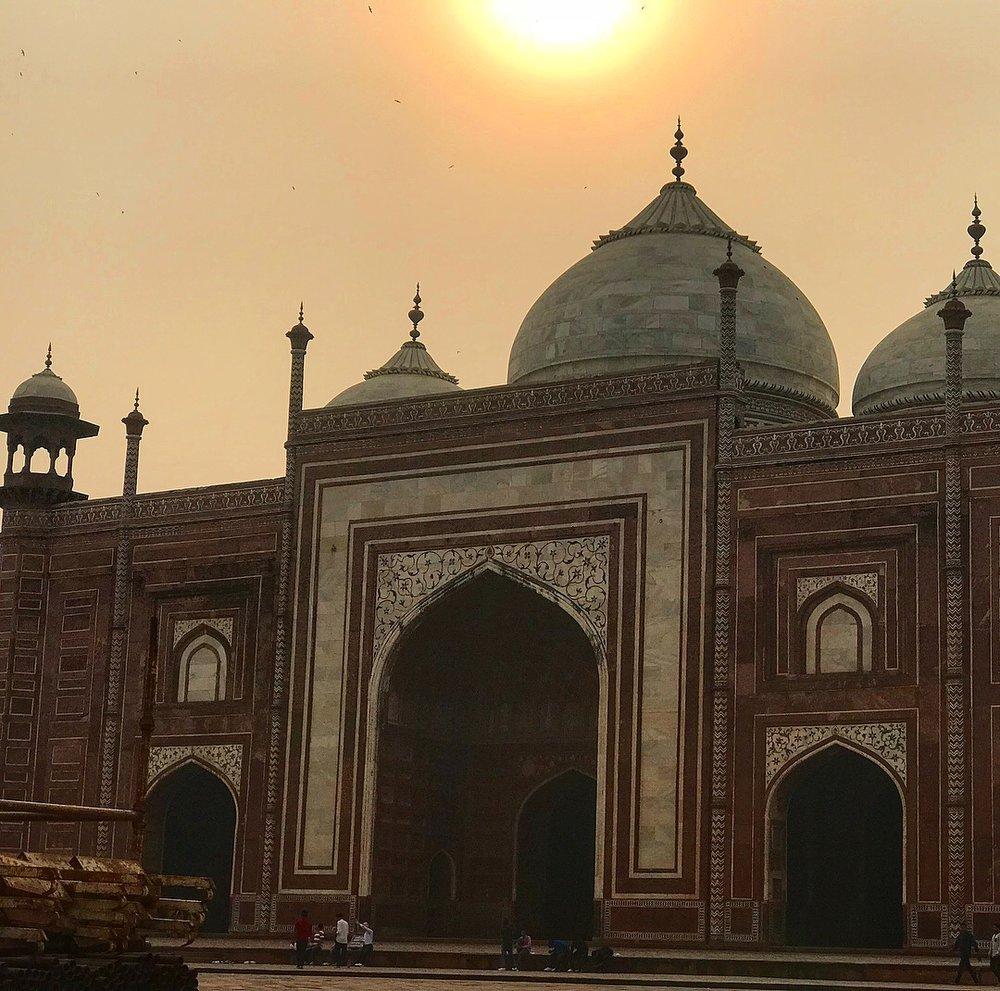 Taj Mahal grounds, Agra.