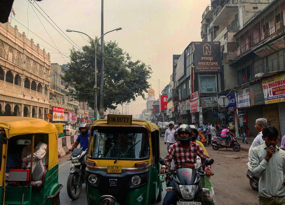 Riding around in a rickshaw with Nasta.