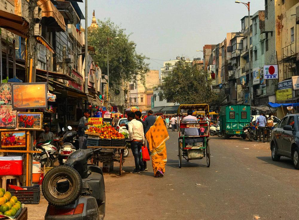 Street markets, New Delhi.