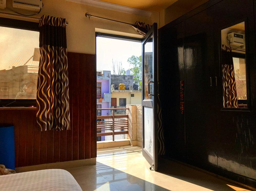 My room of luxury at Rishikesh Nath Yogshala.