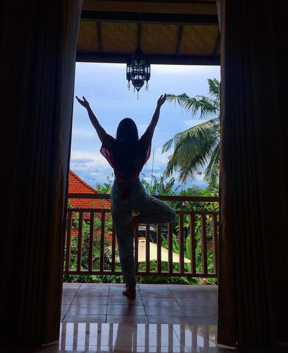 Enjoy my balcony views at the Bali Spirit Festival, 2017.
