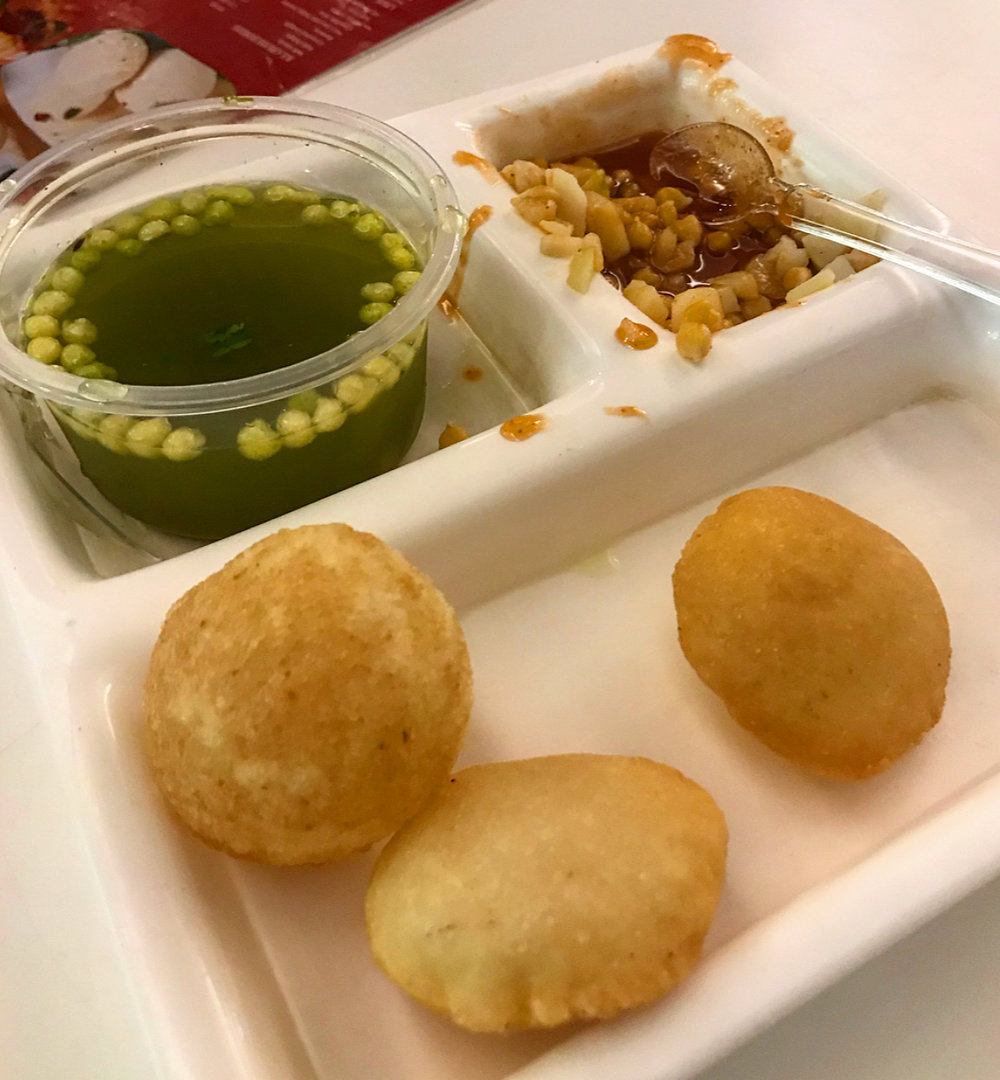 Golgappa: Not the most aesthetically pleasing but was so delicious!
