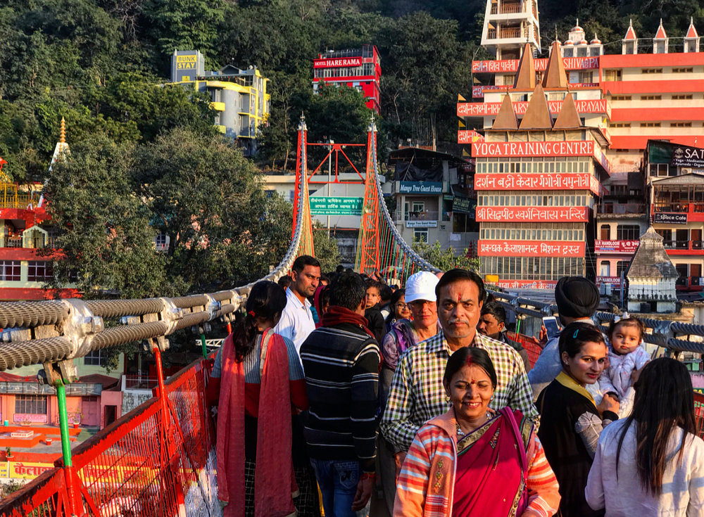 Luxman Jhula bridge, Rishikesh.