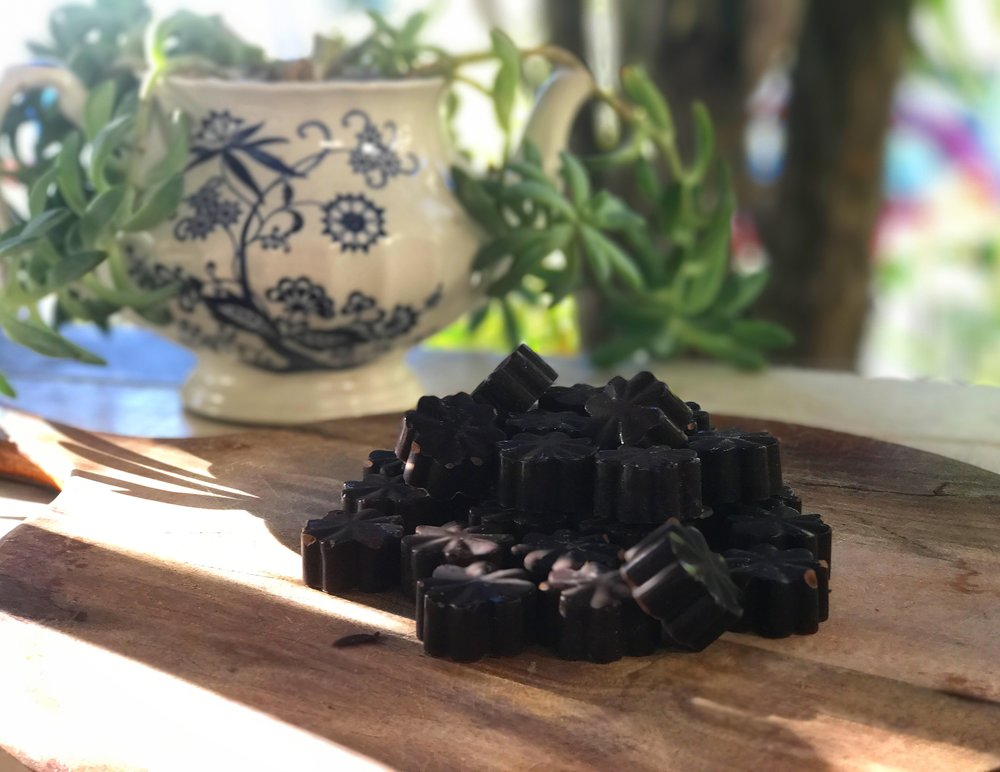 My homemade vegan chocolates with simple & cheap ingredients (check my other blogs to find the  video recipe ).