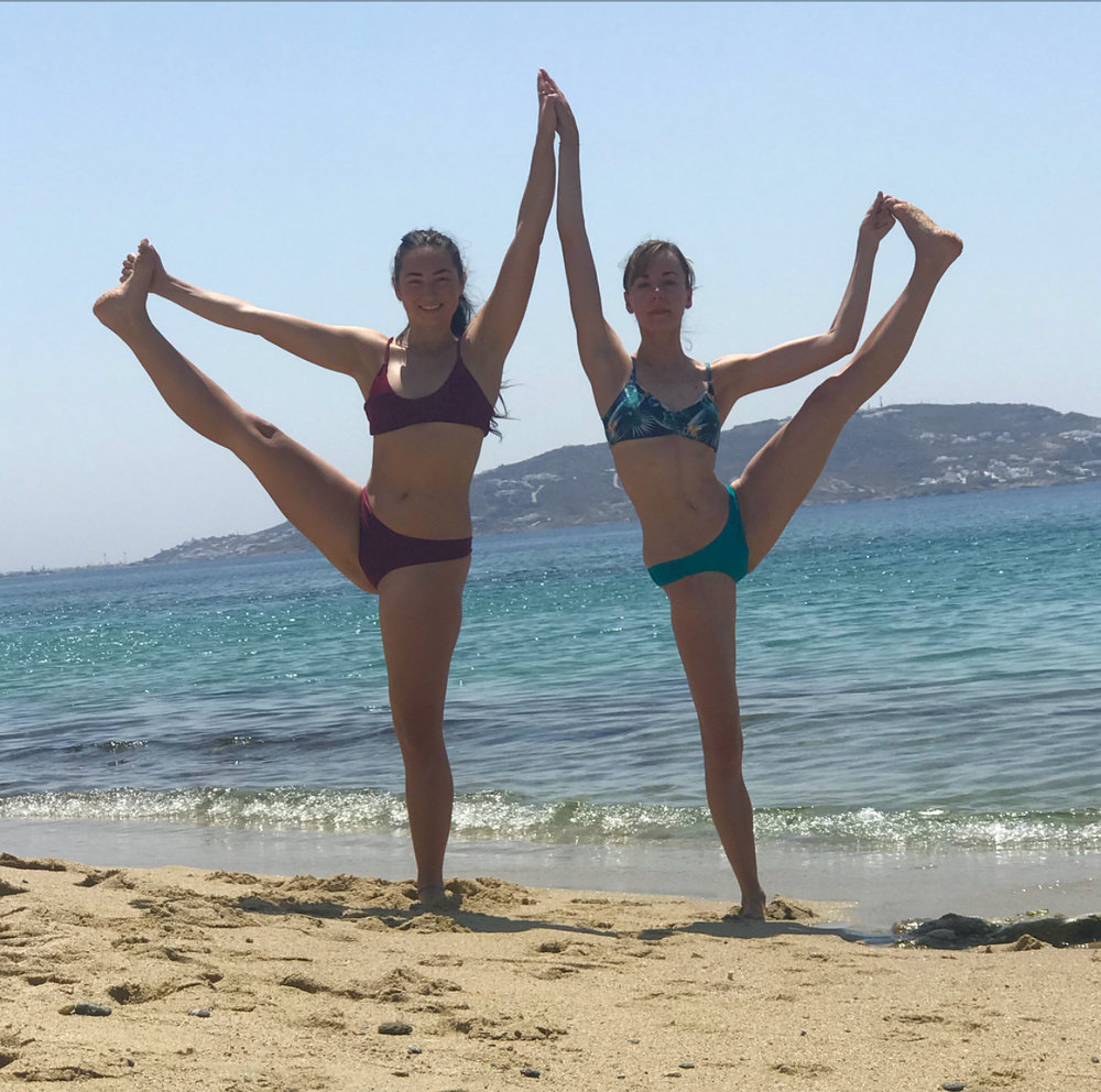 What happens when two yoga teachers go to the beach.