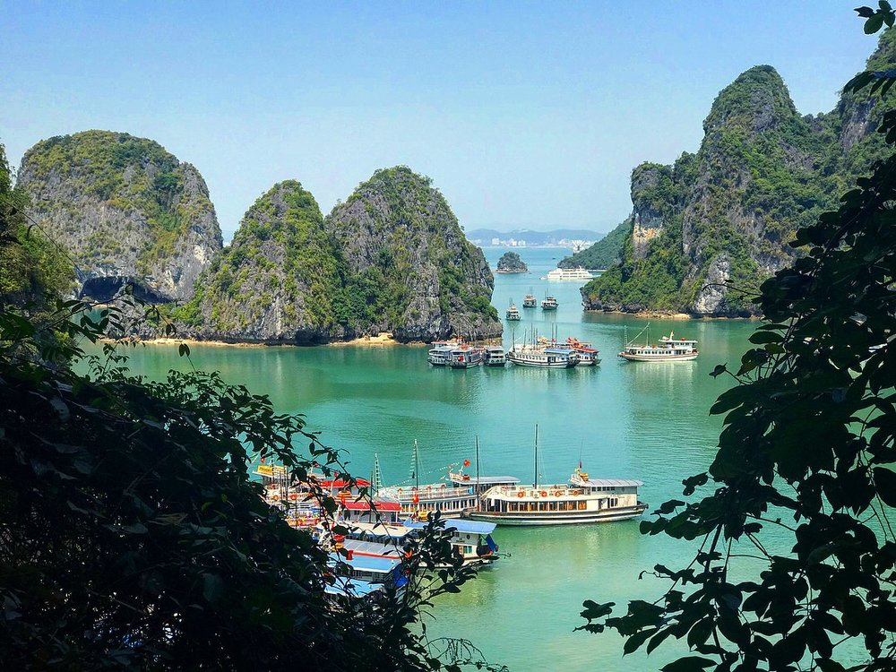 A jaw dropping view in Ha Long Bay, Vietnam.