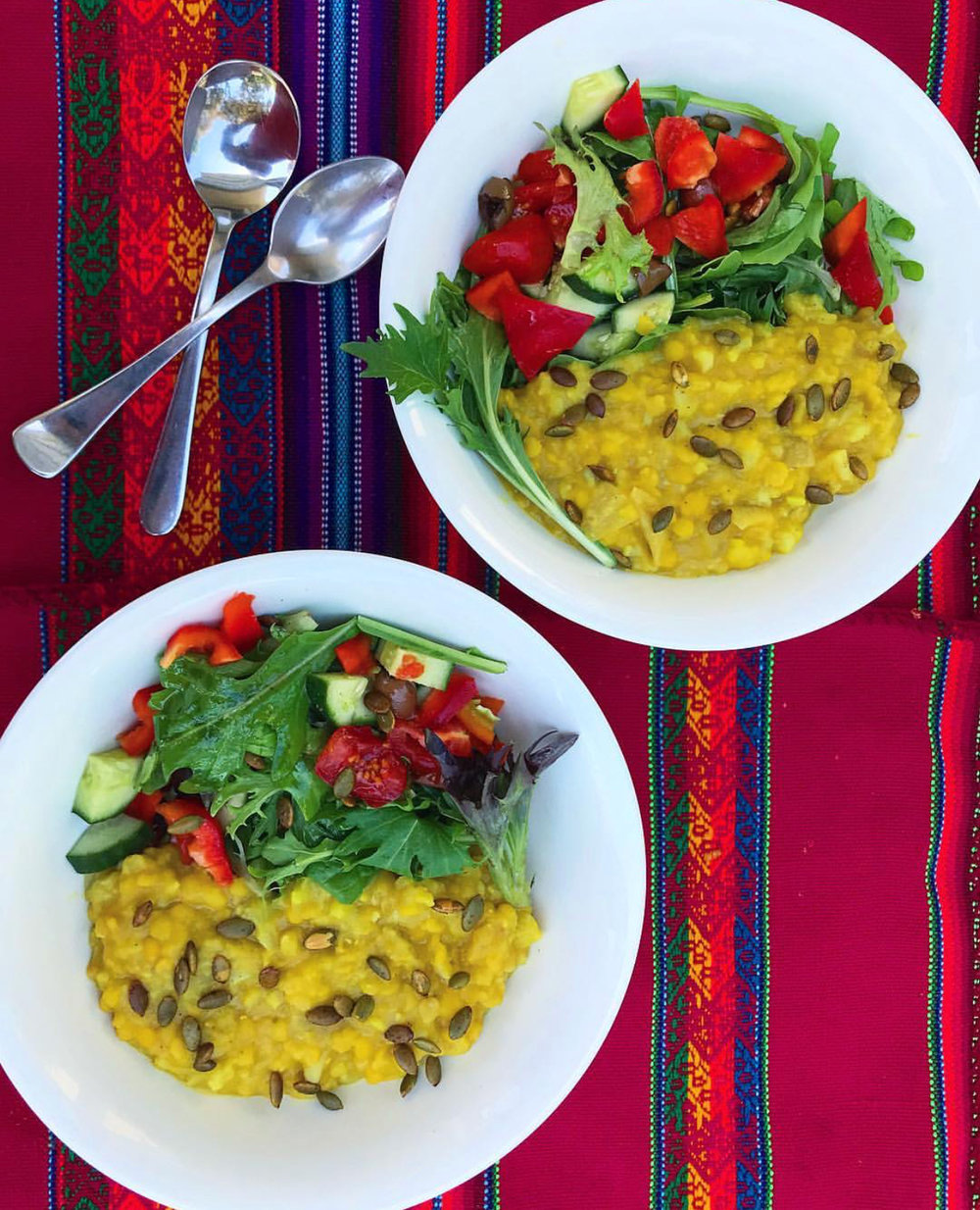 If you want it as a lighter meal, you can serve the dal without rice and with a salad instead.