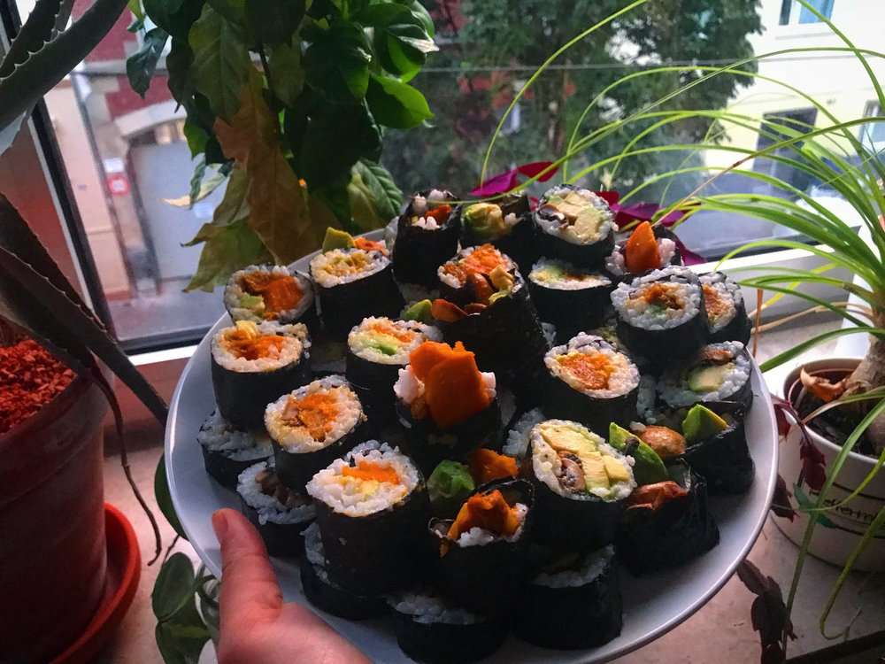 Homemade sushi with Kira!
