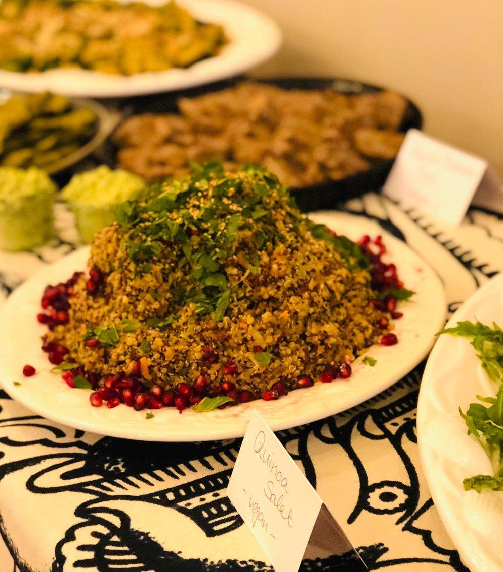 A delicious homemade Ayurveda buffet.