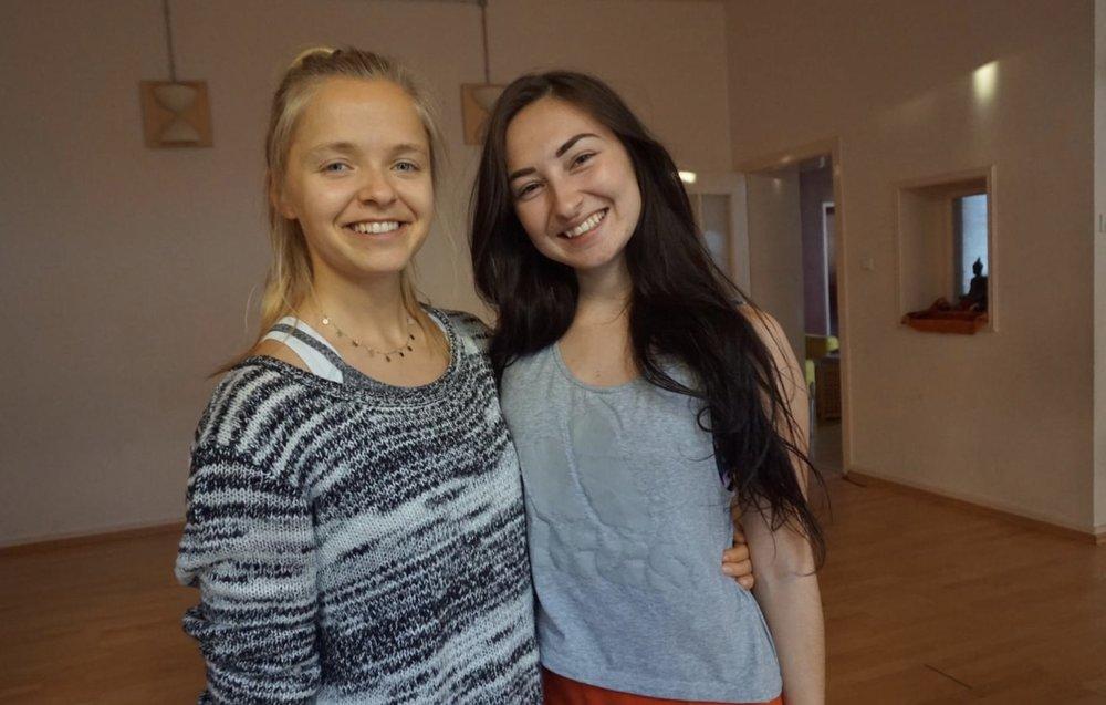 Kira and I after we finished hosting our workshop together.