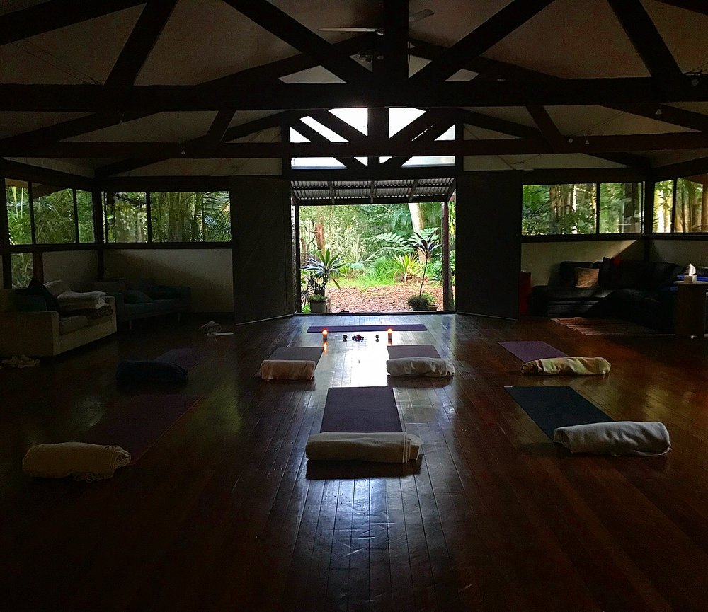 Such a beautiful yoga space.