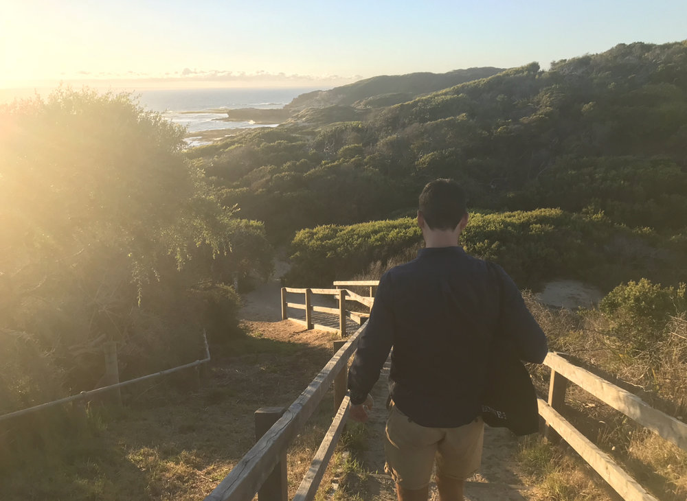 Sunset strolls.