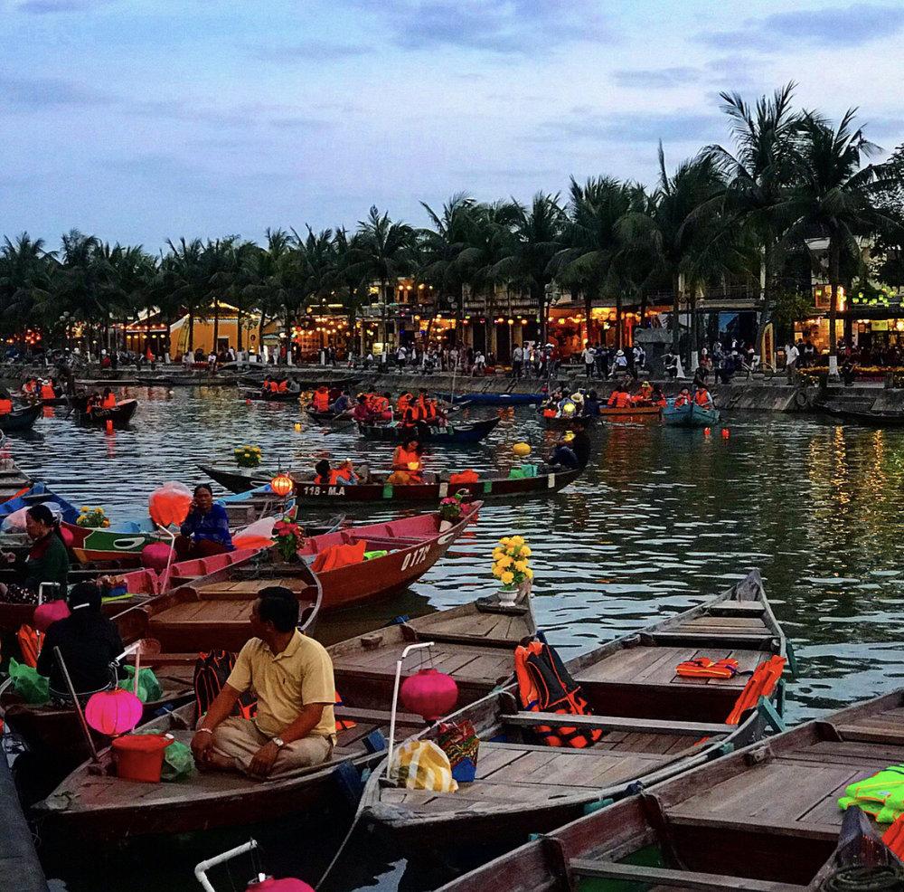 Romantic city of Hoi An.