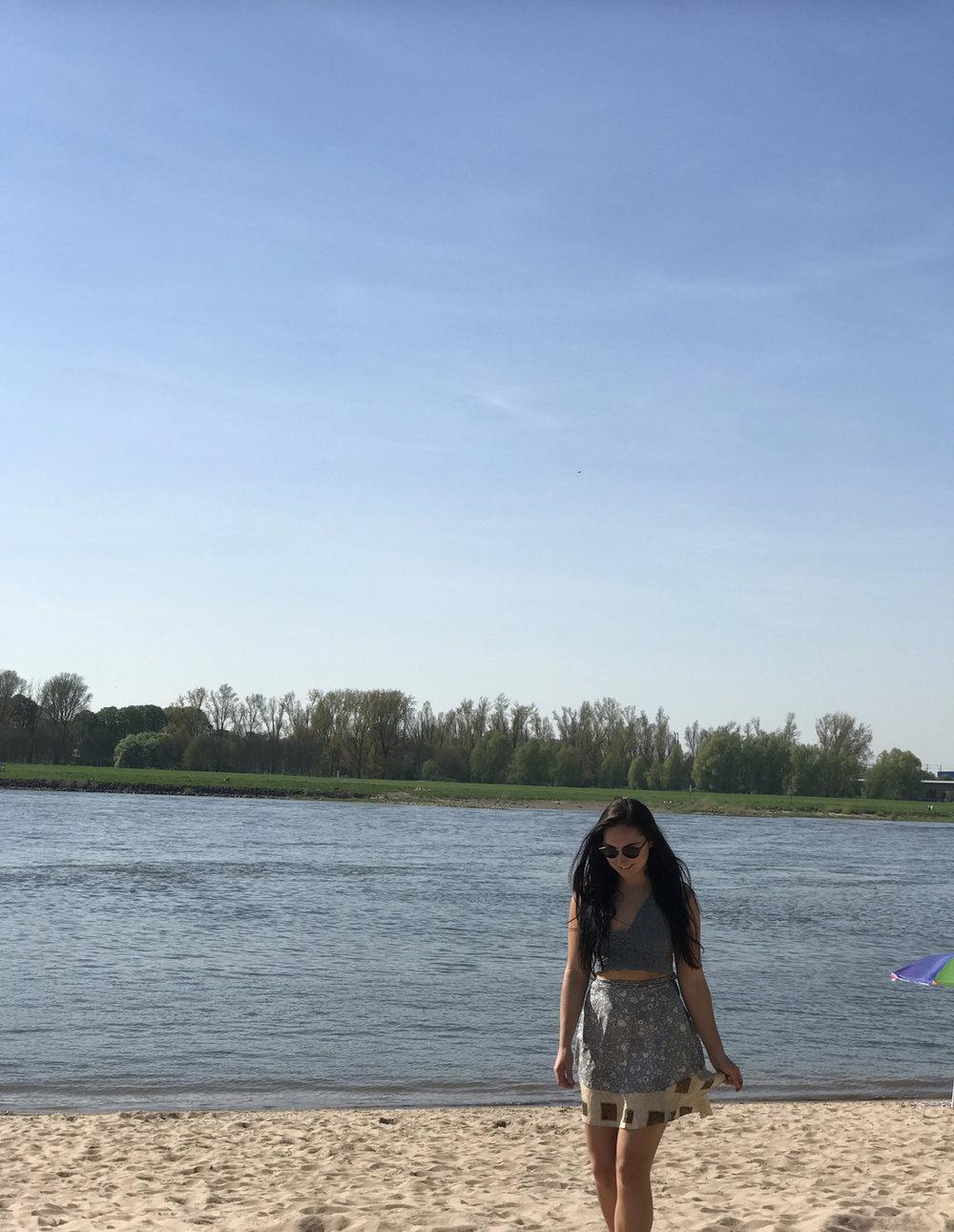 A river bank (almost beach) in Düsseldorf.