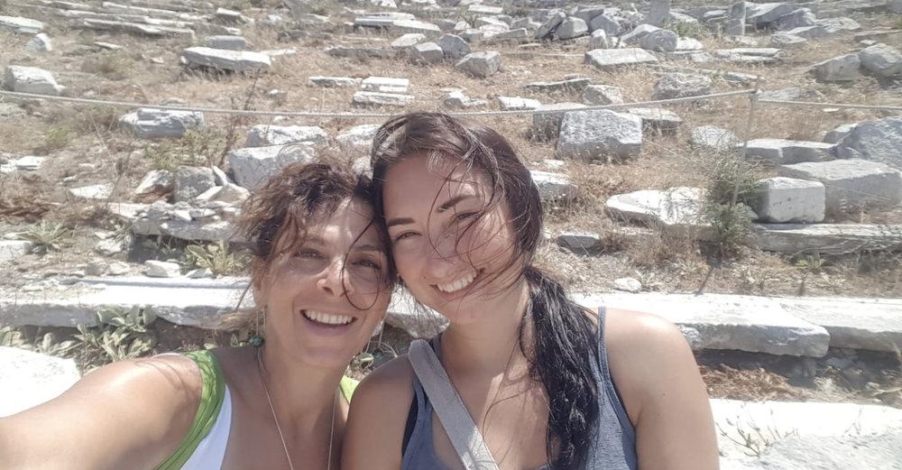 Katina and I (who I'm hosting the Mykonos retreat with).
