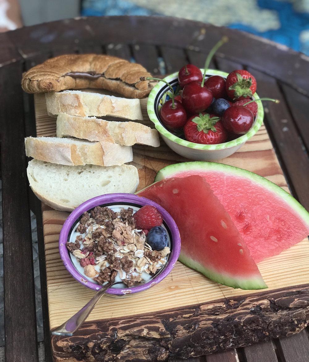 Part 1 of my vegan birthday breakfast.