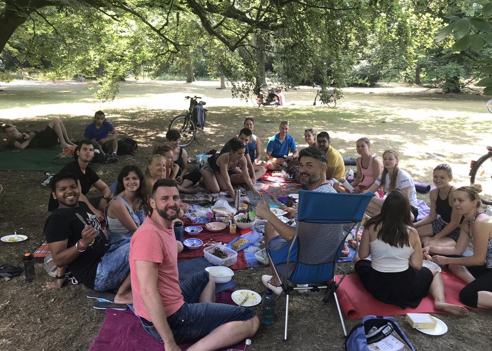 Our community vegan picnic we organised.