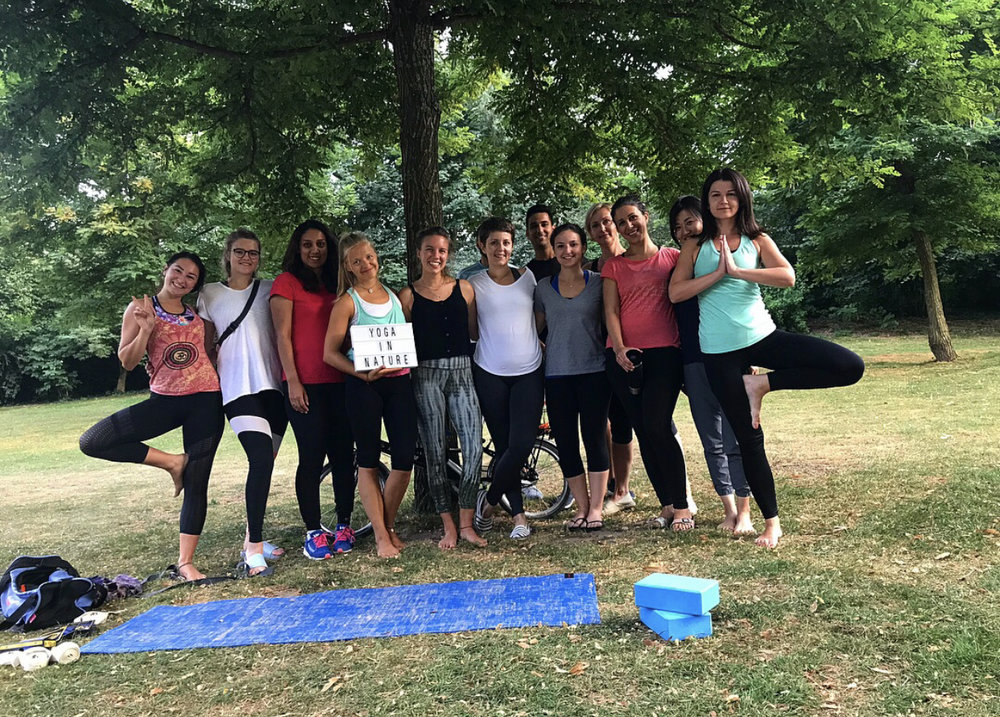 Yoga is the park kept growing.