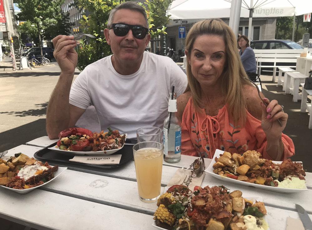 Taking my dad and step mum, Amanda, to our favourite vegan restaurant: Sattgrün.
