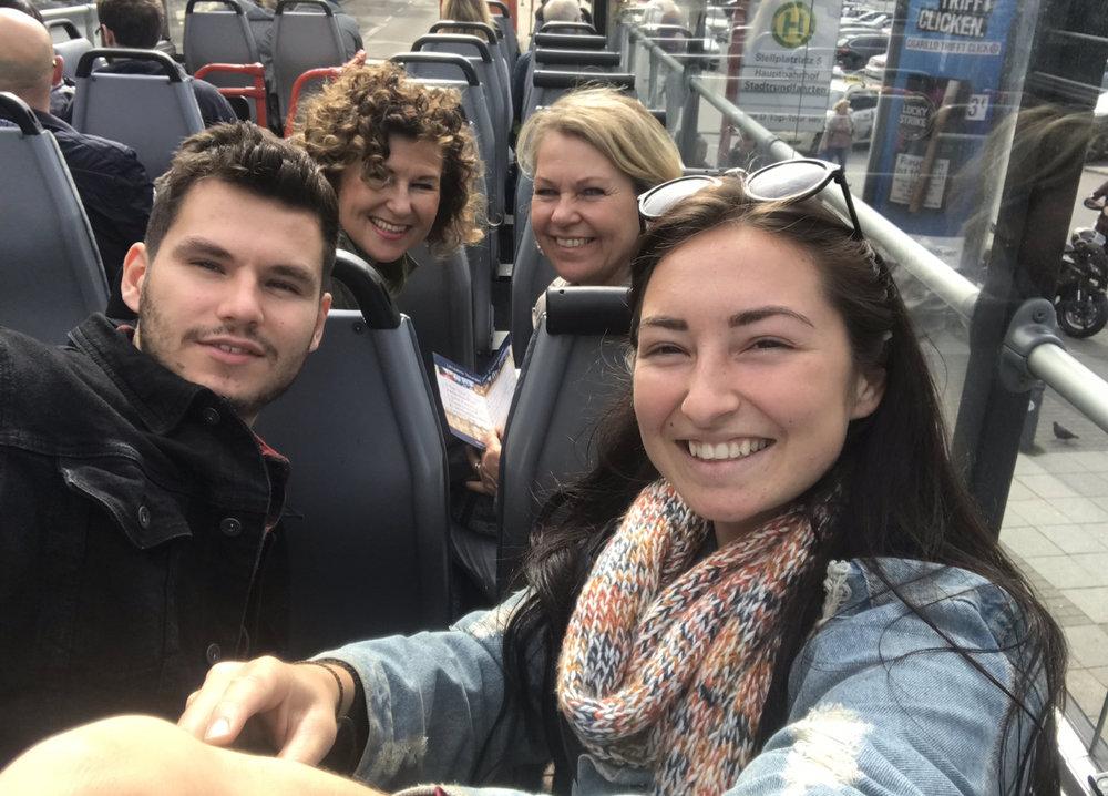 Being tourists around Hamburg.
