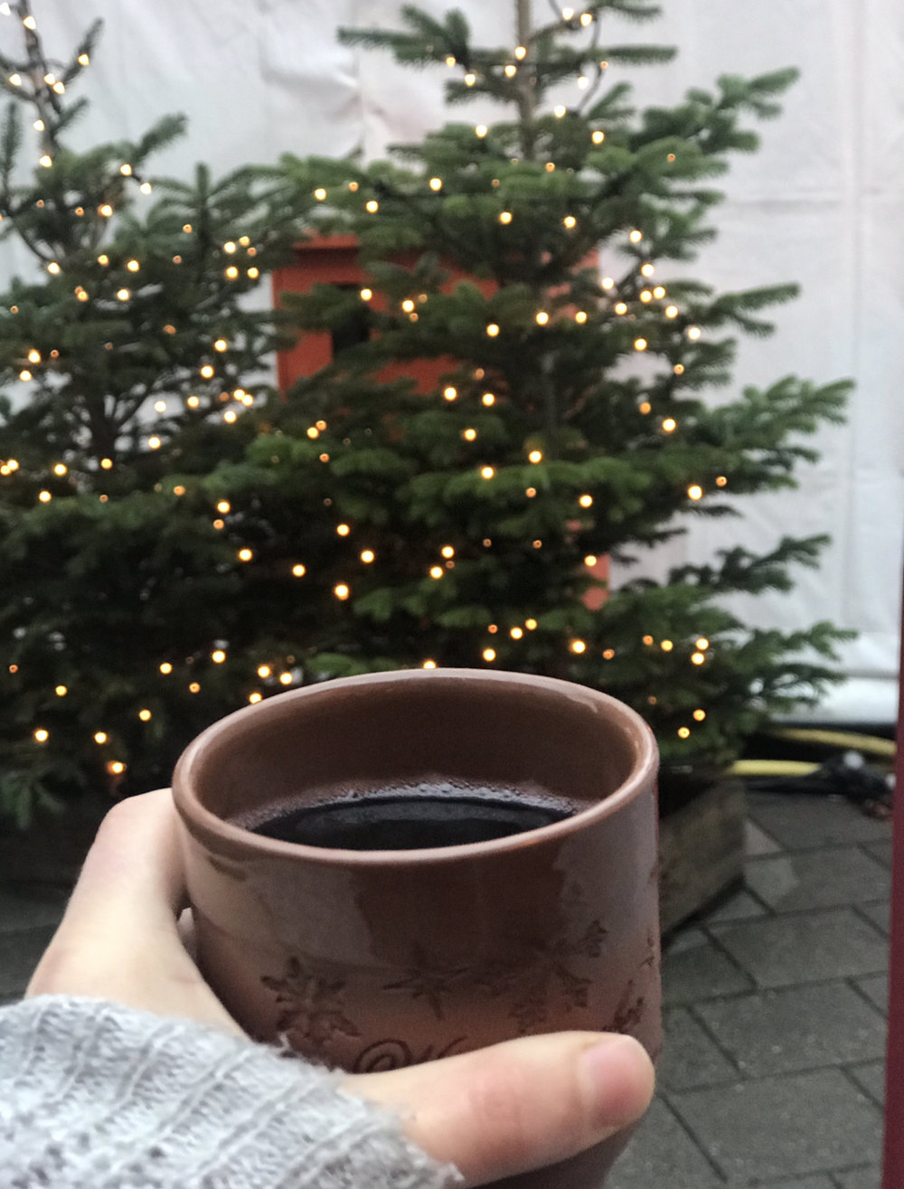 My first ever Feuerzangenbowle (hot wine with rum and sugar).