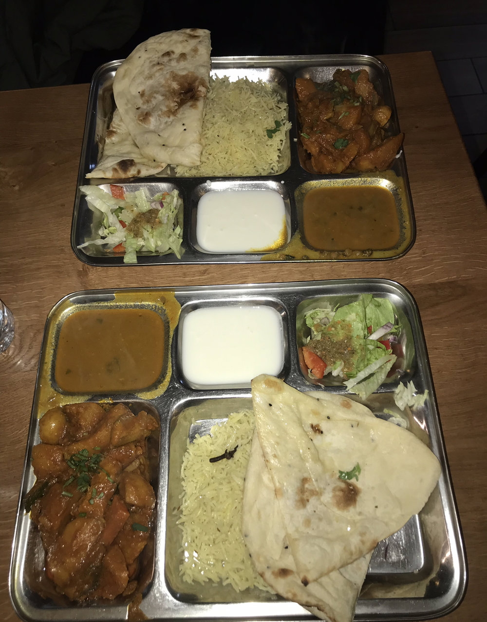 Date night with Henrik... a delicious Thali for just €5!