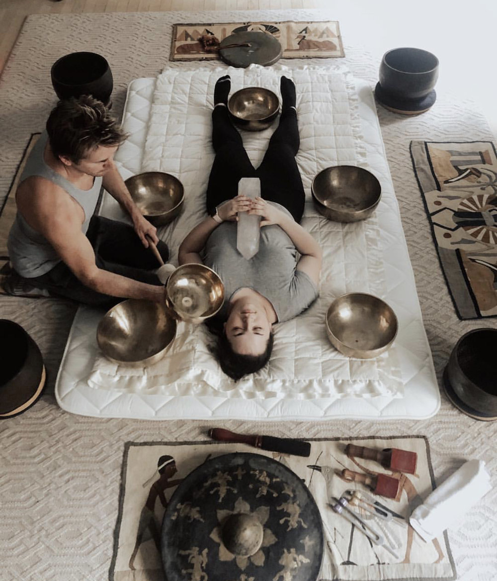 Sound healing with George H Lewis