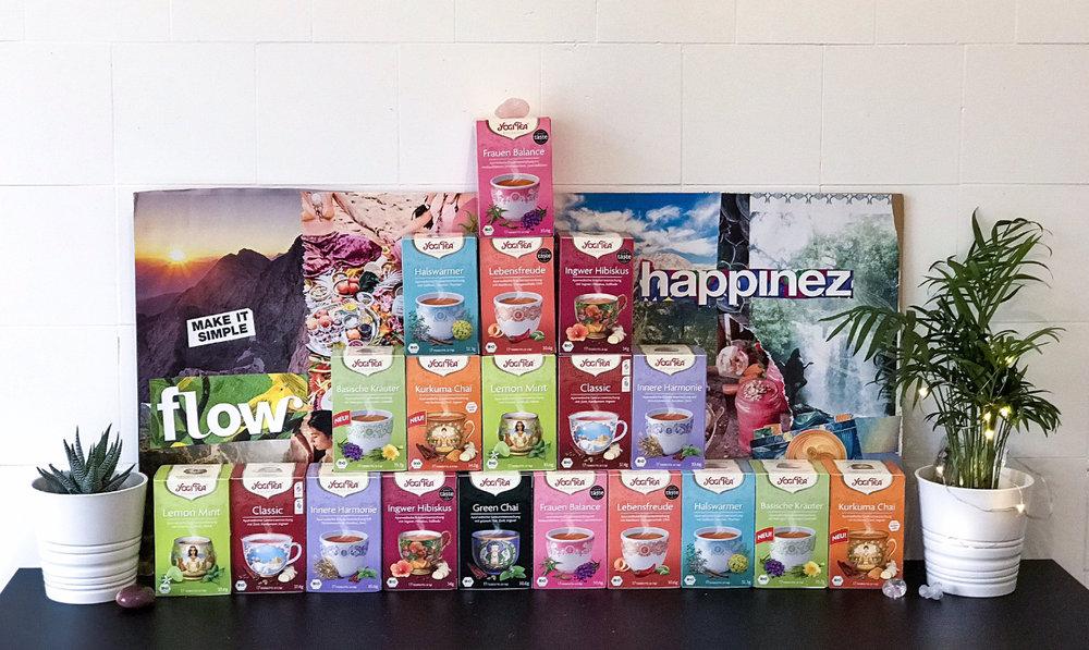 Our amazing sponsors, Yogi Tea!