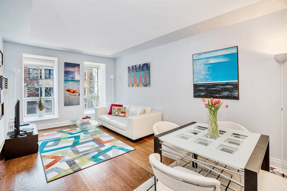 257 WEST 117th STREET, unit 2D  |  2 bed /2 bath condo in South Harlem, listed at $1.149 million