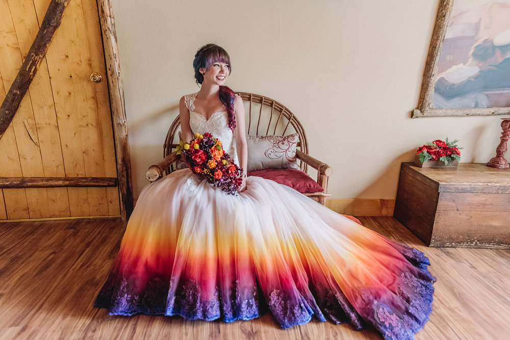 I painted my wedding dress to resemble a dip dye taylor ann art i was terrified but honestly messing up my wedding dress didnt sound as bad as wearing all white plus im a decent problem solver mightylinksfo