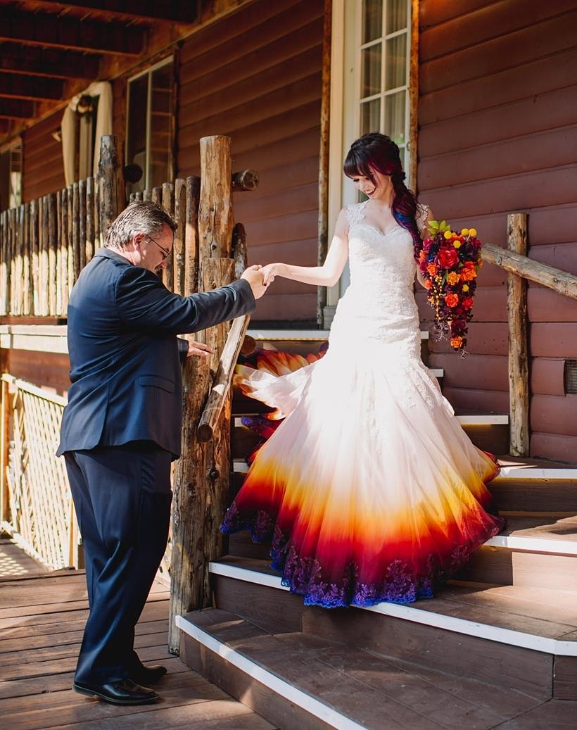 I Painted My Wedding Dress To Resemble A Dip Dye Taylor Ann Art