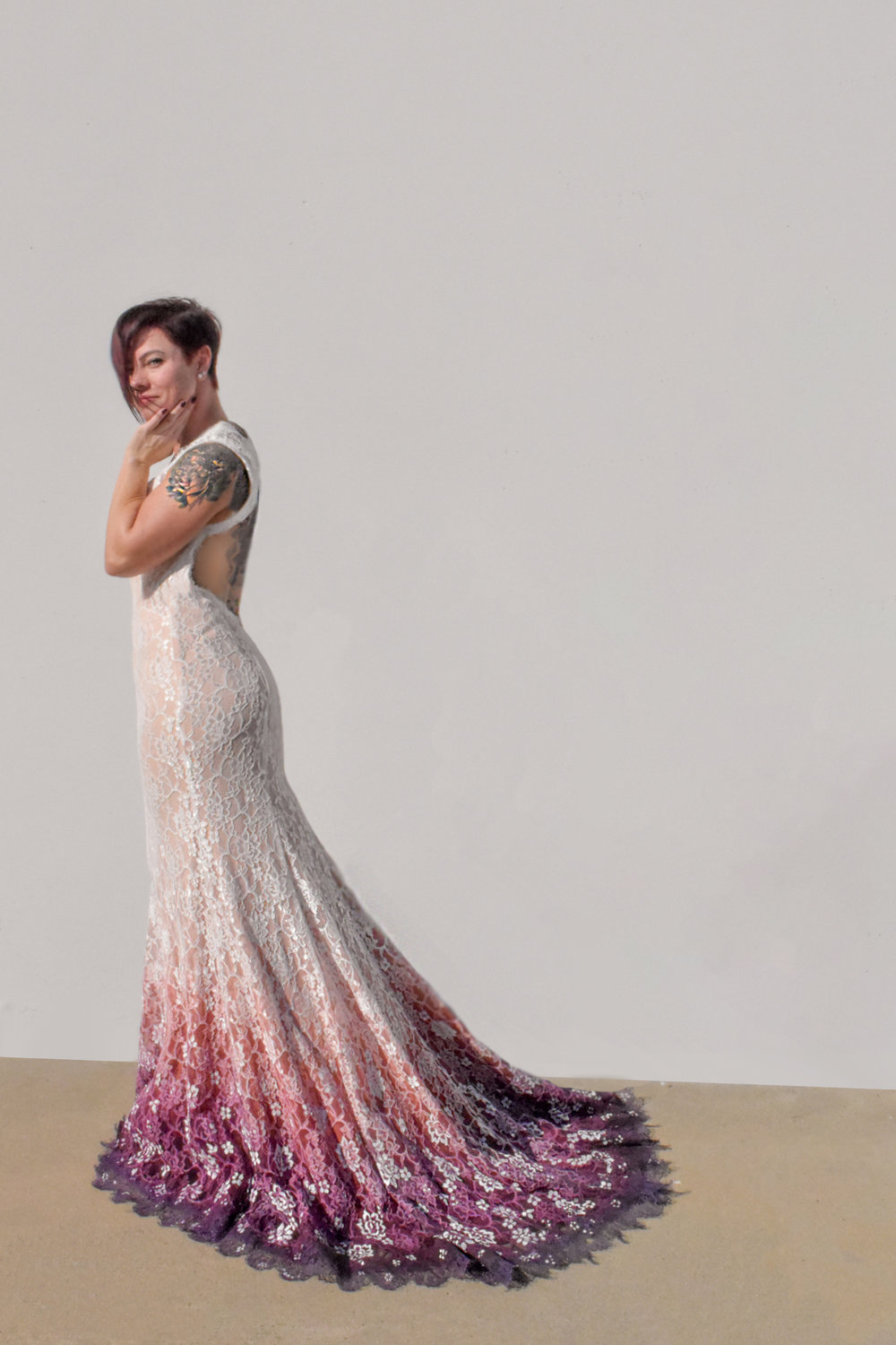 Dress Pinned to Fit Model - More Photos will be added Feb 1st