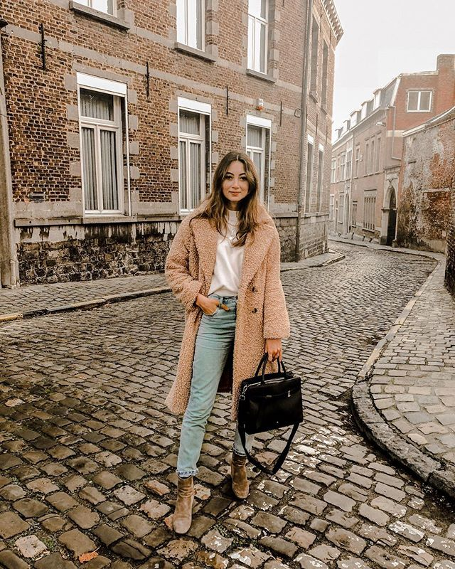 Wear your teddy coat when it's cold outside 🐻❄️ . #teddycoat #neonrose #levis #samsonite #ootd #outfitoftheday #style #look #whatiwore #aboutalook #fashion #fashionblogger #mode #autumn #winter #streetfashion #hair  #fashiongram