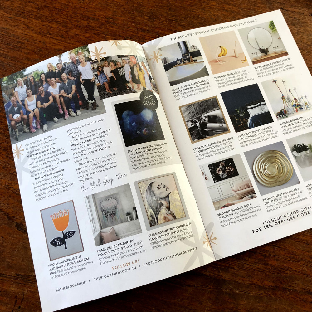 We were featured in the Blockshop insert in Real Living magazine November 2018.