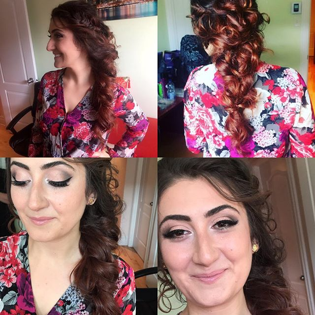 Hair by @dia.mak makeup by @lexxus_11 #beauty #blush #blushbridebeauty #blushbeauty #bride #beauty #mua #mtl #montreal #Montréal #makeupjunkie #makeup #bridalmakeup #bridalhair #hairstyle  #updohairstyle #braidstyles #hairstylist #makeupartist #514 #514beauty