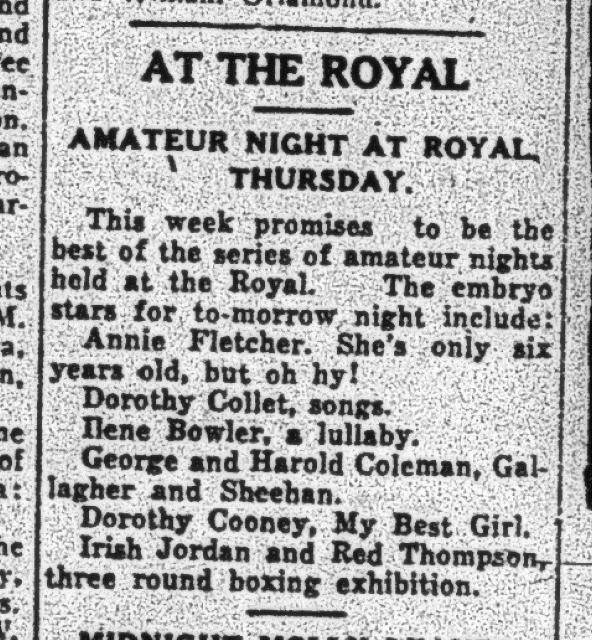 Examiner  ad, April 29, 1925.
