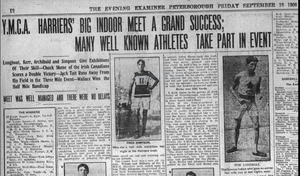 Peterborough Examiner , Sept. 18, 1908. One day Simpson dropped into the Royal Theatre to see a film.