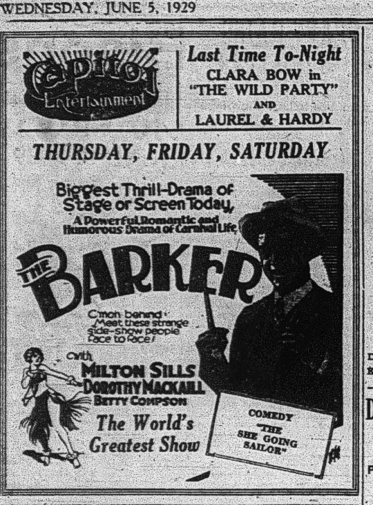 Peterborough Examiner , June 7, 1929, marking the end of the silent film era at the Capitol.