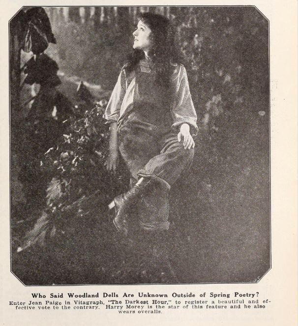 Motion Picture World , Dec. 6, 1919, p.661. A woman in overalls, just like the man.