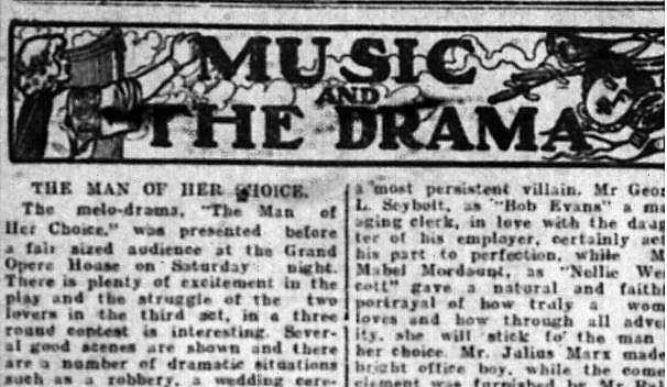 Peterborough Daily Evening Review , Nov. 5, 1906, p.8.
