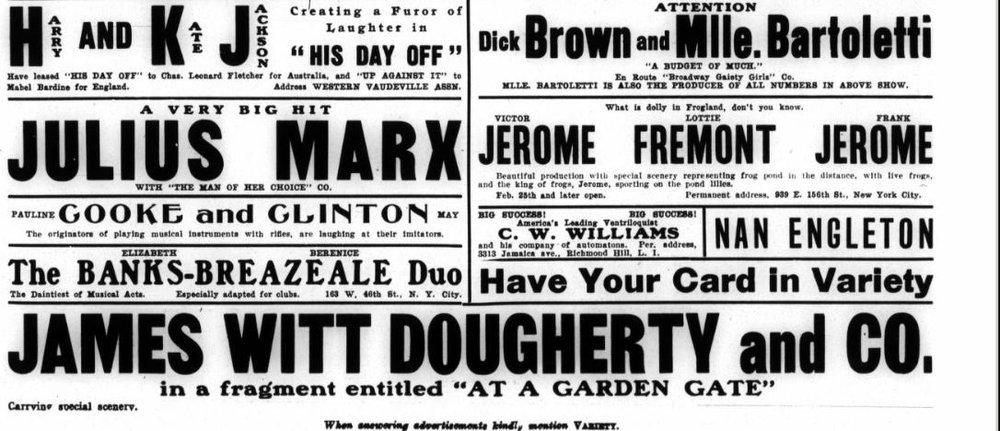 Variety , Nov. 17, 1906, p.17.