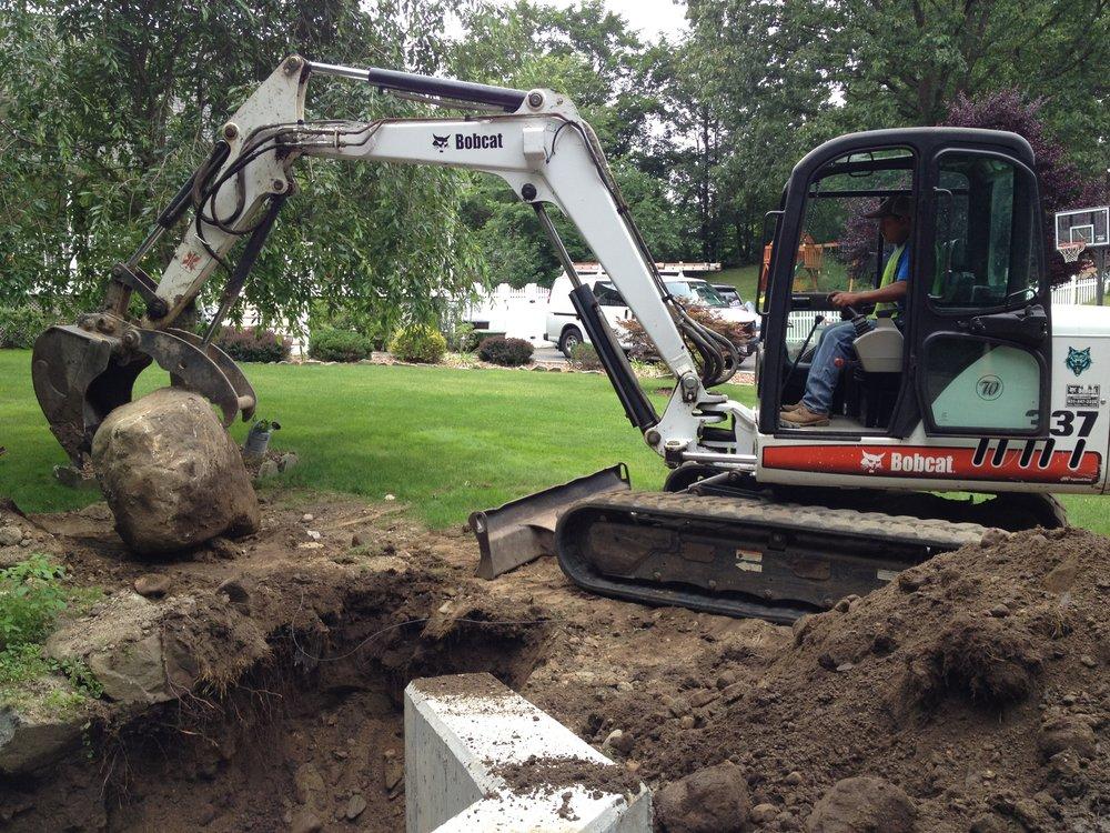 Rock excavation in Mt. Kisco, NY