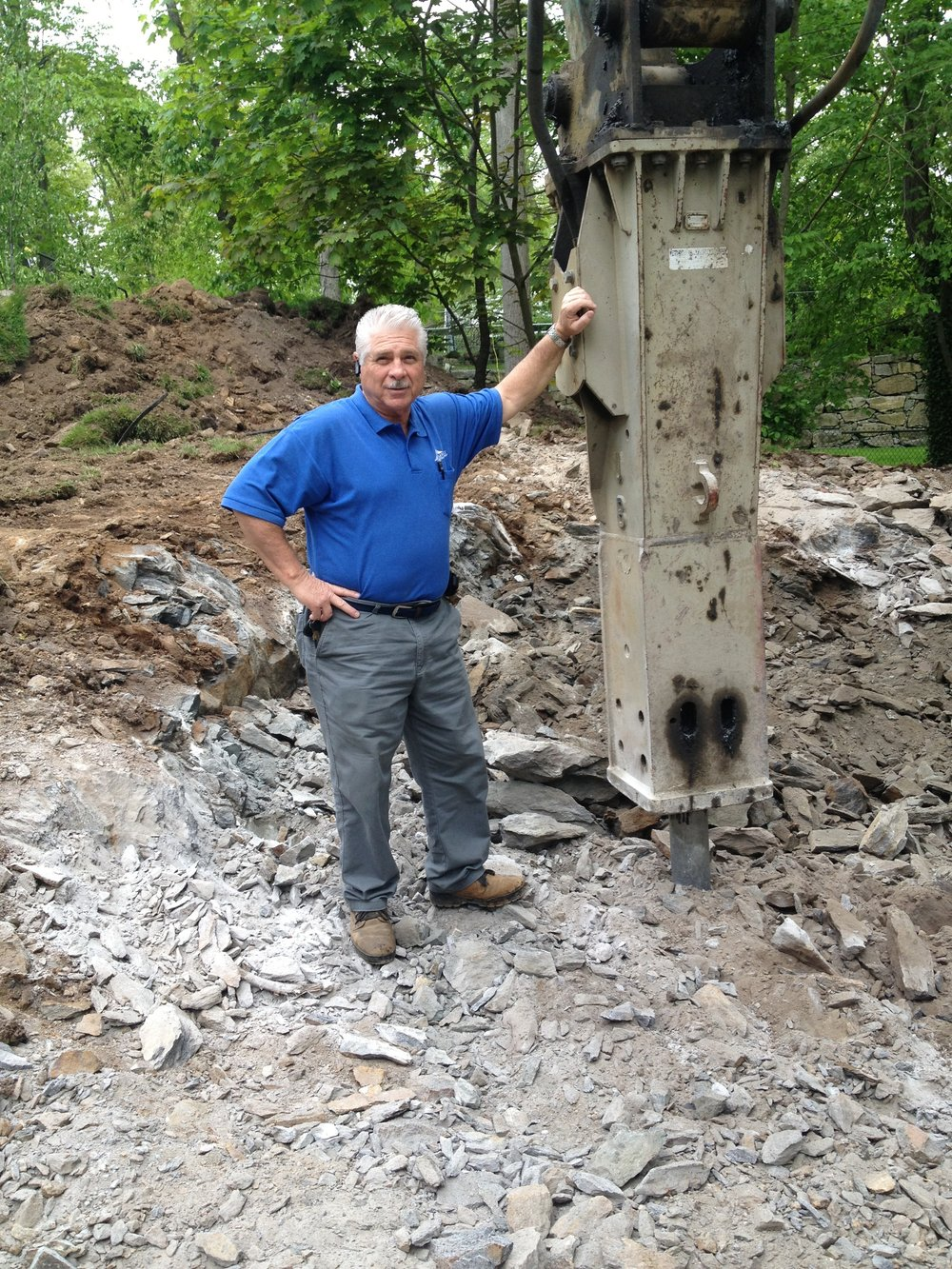 Chappaqua, New York rock excavation company