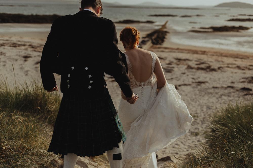 Hebrides beach wedding