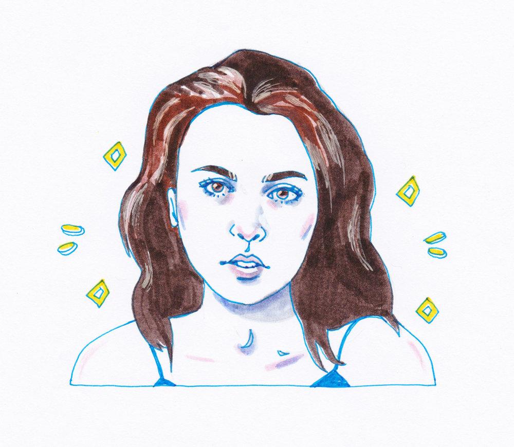 Gianna Reisen   By SPECIWOMEN  Illustration  SENDRA UEBELE