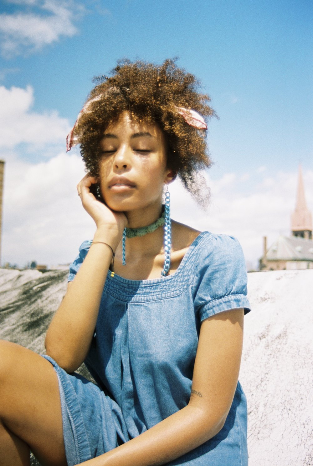 Stazi wearing jewelry from her brand  Flourish Wear  captured by Natalie Yang.