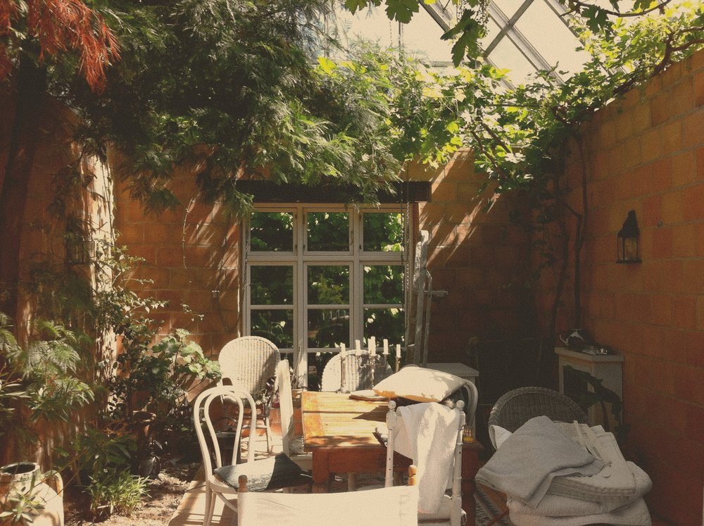 My friend Camille's Orangery, where I'll convince her to let me sit and write for a winter or ten.