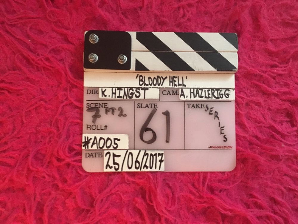 Behind the scene of Bloody Hell- courtesy of Katharina Hingst