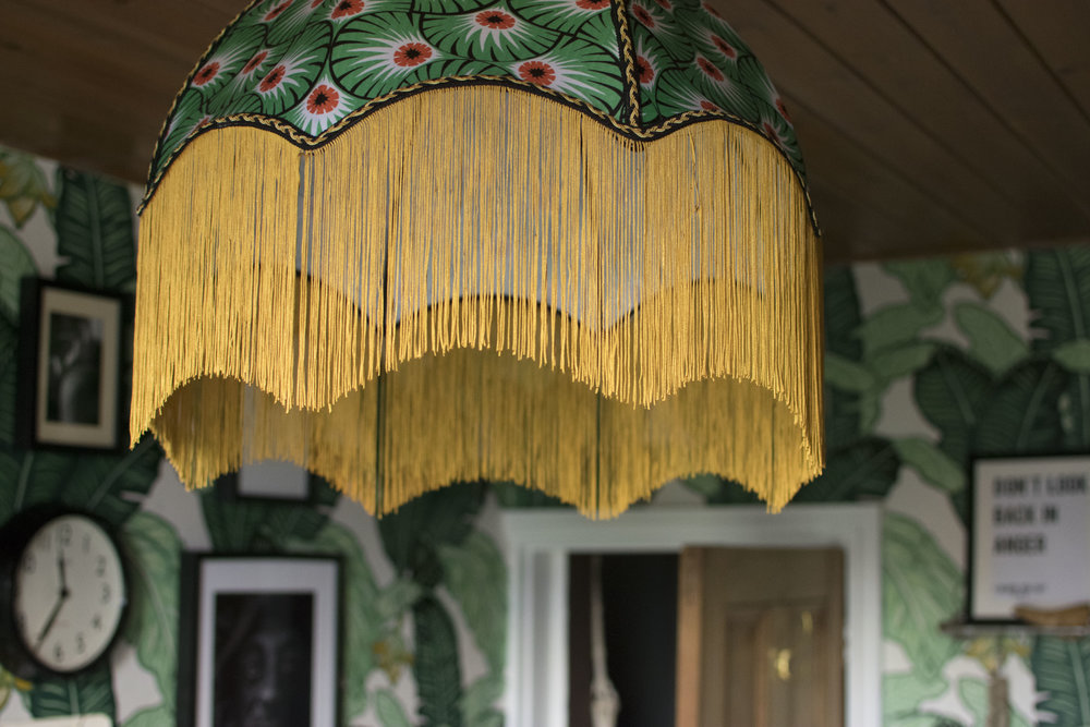 In the picture above is a striking lampshade by  Ann Hayman Design , as above