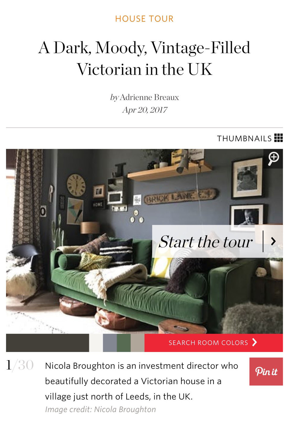Find my Home Tour on Apartment Therapy -